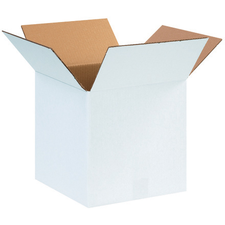 "12 x 12 x 12"" White Corrugated Boxes"